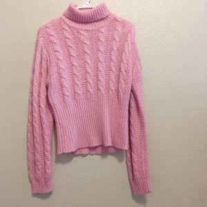 Derek Heart Pink Sweater sz XL (Fits Like M)